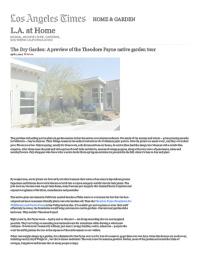 LA Times: A Pasadena Craftsman's native plant garden