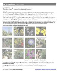 LA Times: Theodore Payne's 2013 native plant garden tour